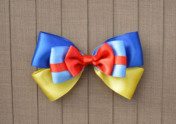 Disney Inspired Snow White Hair Bow by MagicandaLittleGlue on Etsy