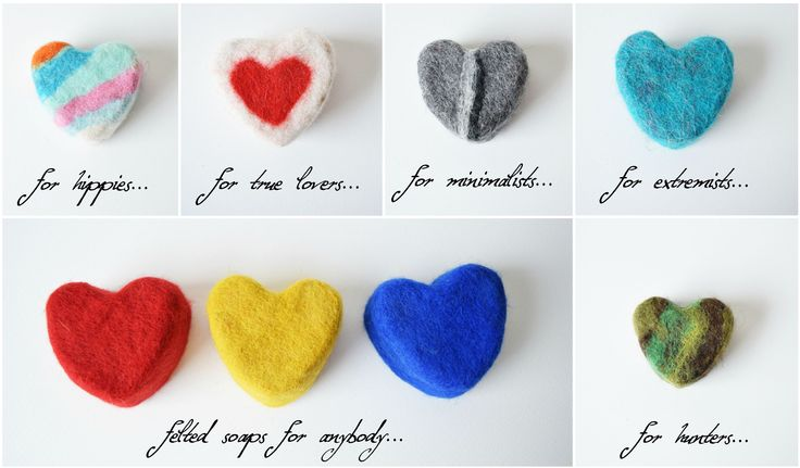 heart shape felted soaps made by dórás handmade gift not just for lovers... :) Happy Valentine's Day! :) love on any day! :)