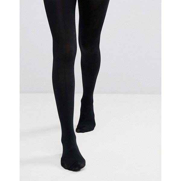 Monki 100 Denier Tights ($9.91) ❤ liked on Polyvore featuring intimates, hosiery, tights, black, opaque stockings, patterned opaque tights, opaque tights, high waisted tights and opaque pantyhose