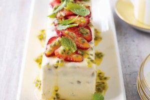 Passionfruit semifreddo