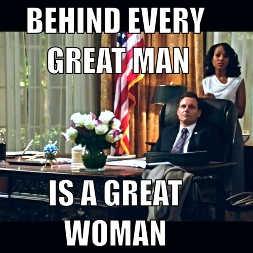 Behind every great man is a great woman.  #scandal #ABC