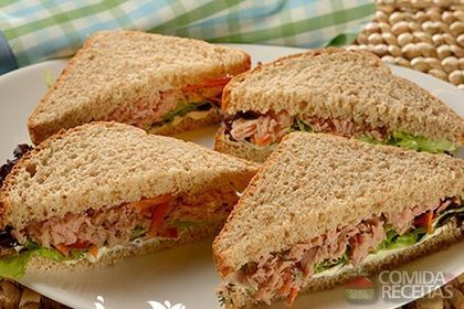 Receita de Sanduíche fácil de atum em receitas de paes e lanches, veja essa e outras receitas aqui!