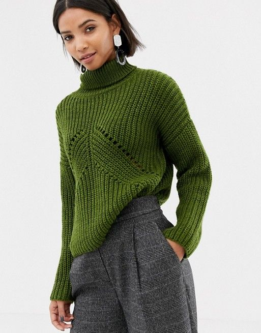 da737cad29f DESIGN roll neck sweater in moving rib stitch in 2019 | Wants with ...