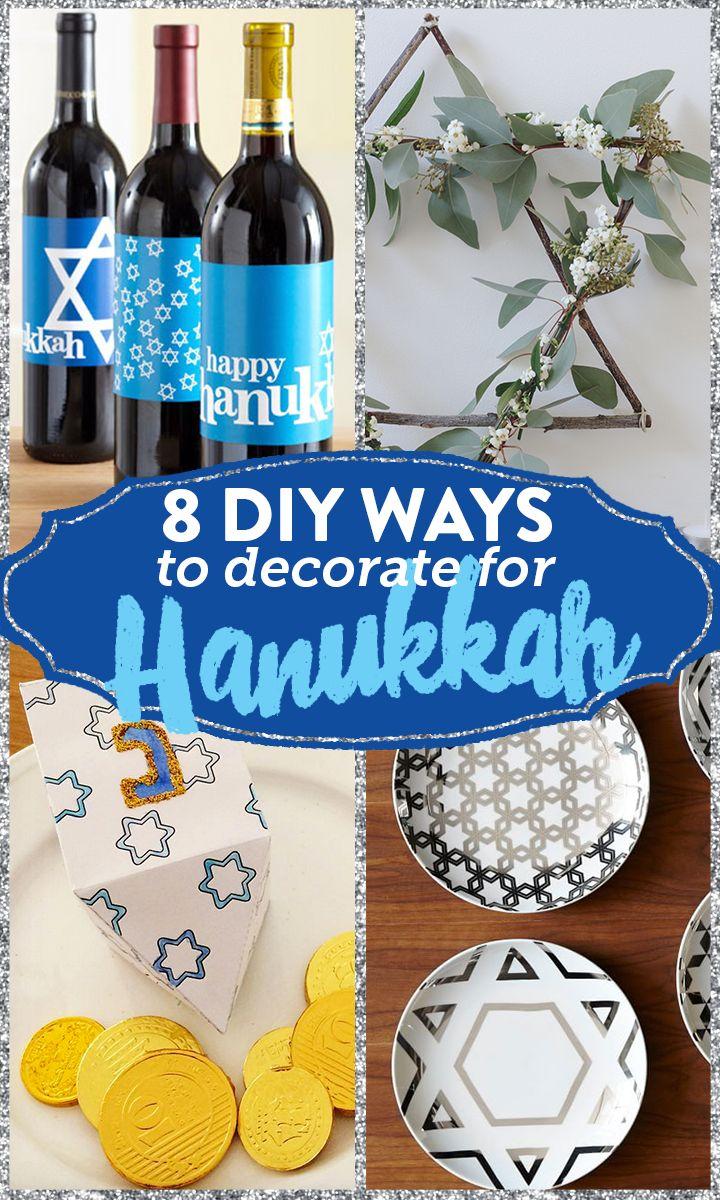 8 DIY Ways to decorate for Chanukah/Hanukkah.  Jewish Holiday Inspiration