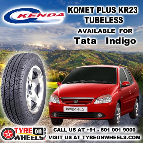 Buy Tata Indigo Tyres Online of Kenda Komet Plus KR23 Tubeless Tyres and get fitted with Mobile Tyre Fitting Vans at your doorstep at Guaranteed Low Prices buy now at http://www.tyreonwheels.com/tyres/Kenda/KOMET-PLUS/1249