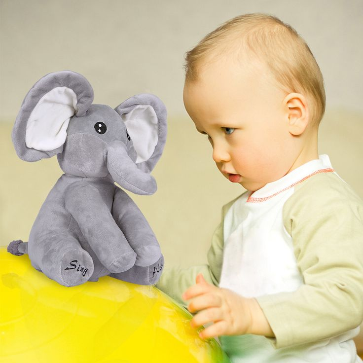 28CM Baby Interactive Elephant Plush Toys Kawaii Sing And Play Music Elephant Educational Anti-stress Toy For Children
