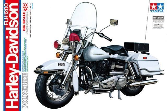 1/6 Tamiya (Old tools) Harley Davidson FLH 1200 Police Bike | iModeler