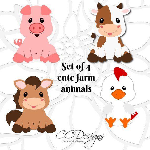 Bildergebnis Fur Free Animal Svg Files Barn Animals Farm Animals Baby Farm Animals