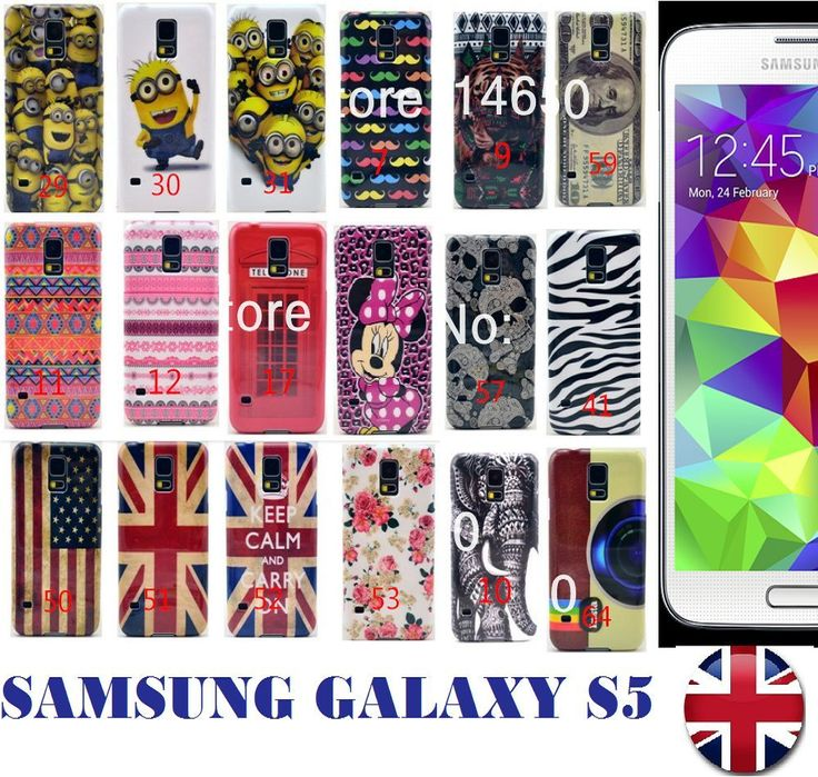 PRETTY DESIGNS HARD BACK CASE COVER FOR SAMSUNG GALAXY S5 I9600 MOBILE PHONES