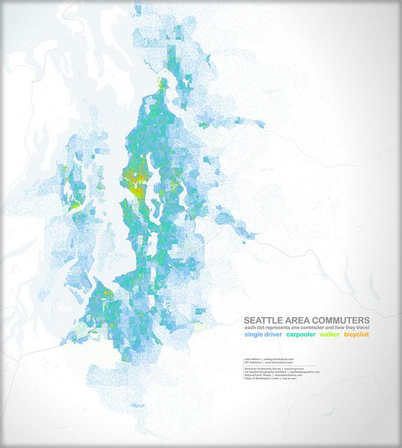 Commuting Around Seattle: Driving, Sharing, Walking, Biking