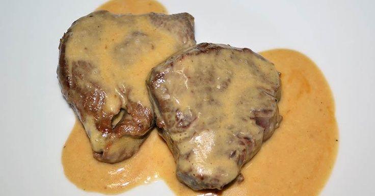 Solomillo de ternera con salsa de mostaza y miel
