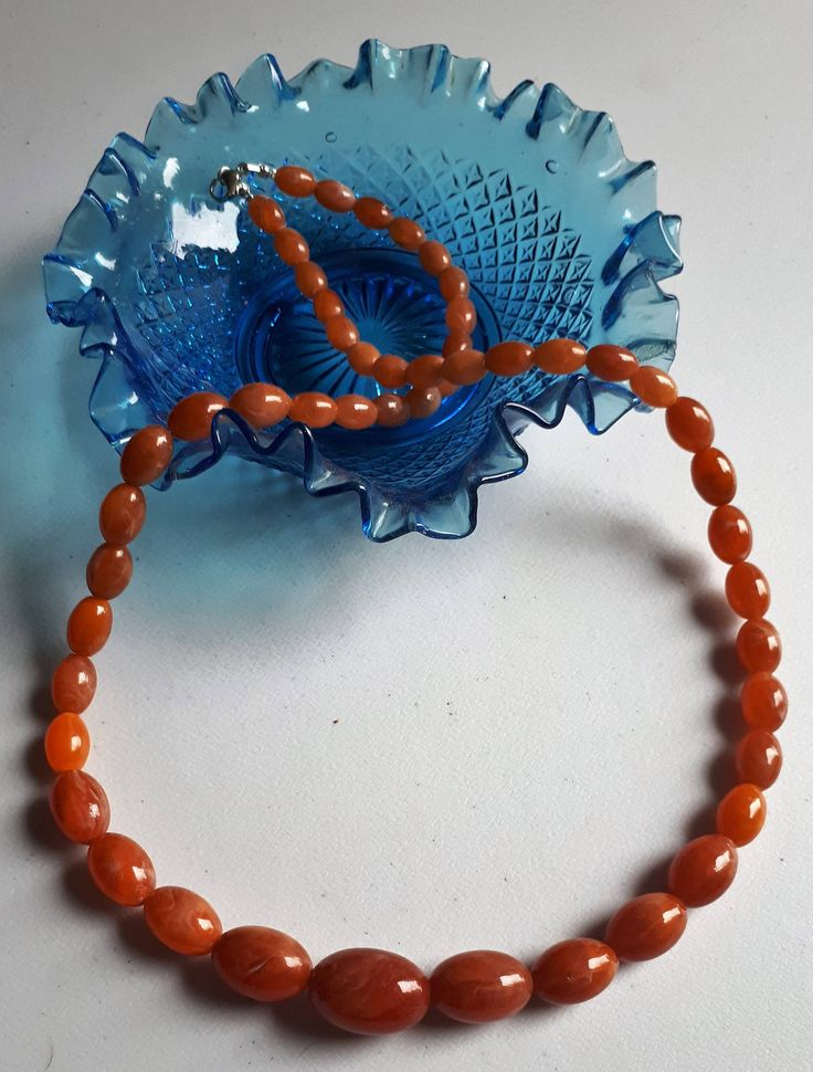 Vintage Genuine Amber Beads Necklace Honey coloured Superb 72 cm - 37,2 g by semelesparlour on Etsy