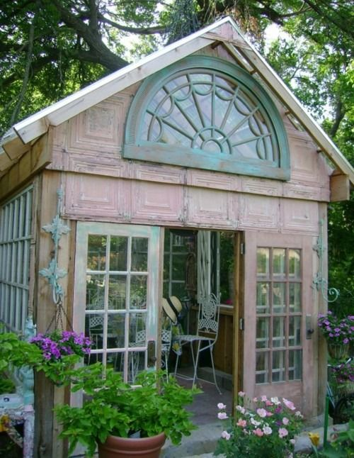 barb, here's something to do with your half round window  Garden Houses