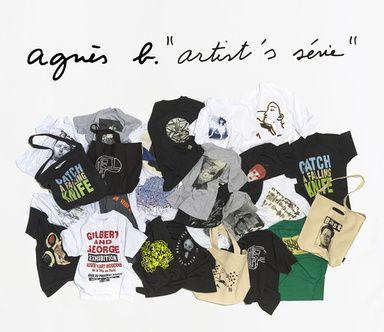 アニエスベーアーティストTシャツを一堂に発売