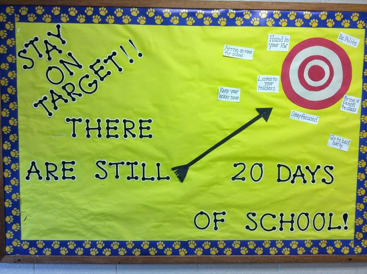 Stay on Target- End of the Year- More Middle School Bulletin Boards
