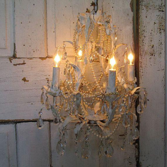 6swhite Silvers: Birdcage Chandelier Tole Lighting Decadent Farmhouse Light