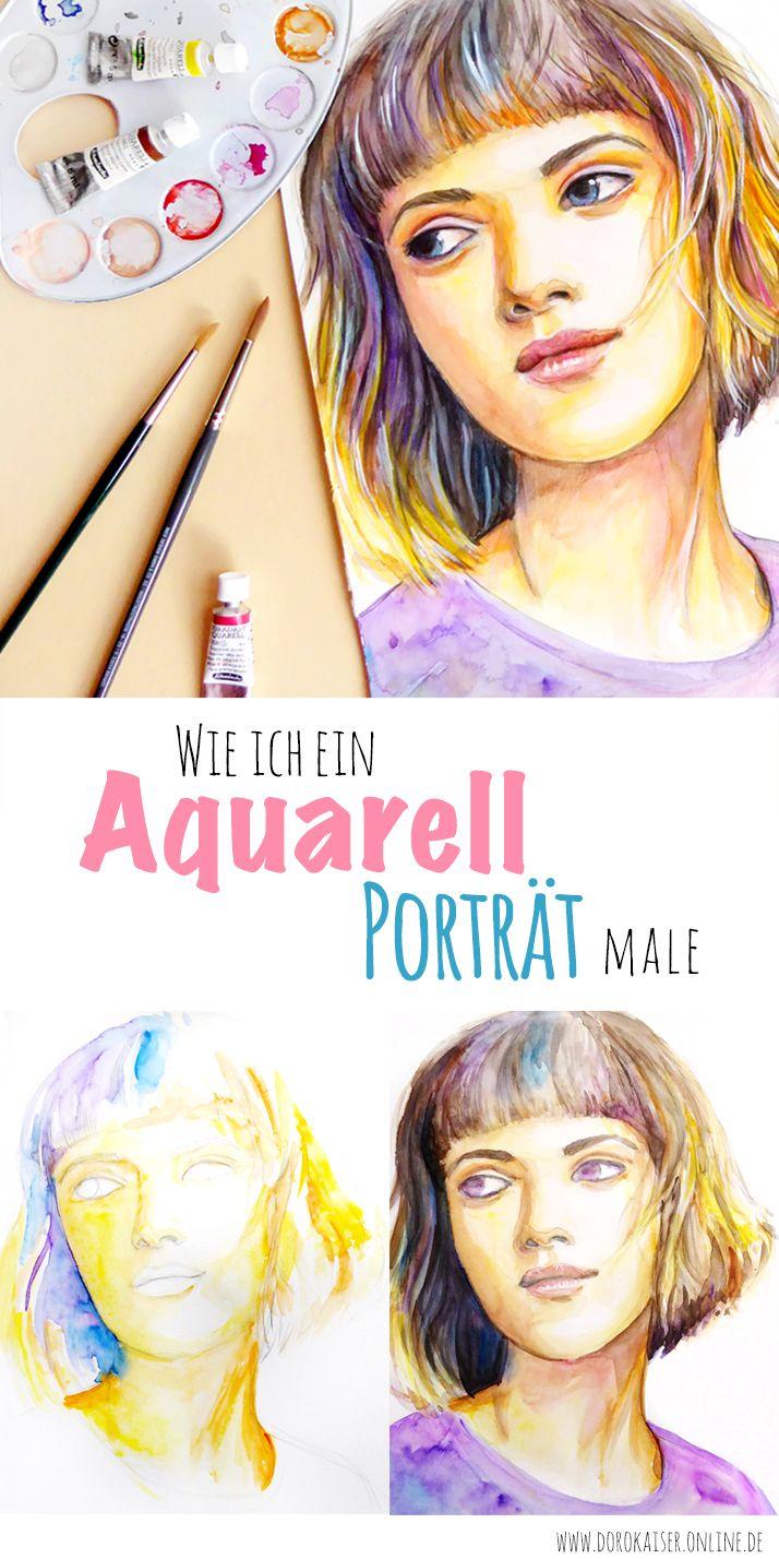 Ein Aquarell Porträt malen