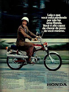 Anúncio moto Honda - 1973
