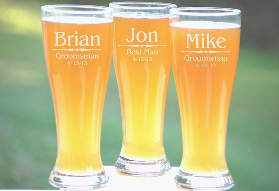 Looking For a Personalized Groomsmen Gift For the Wedding Party? Our Groomsmen Beer Mugs Make an Excellent Wedding Favor Keepsake! Each