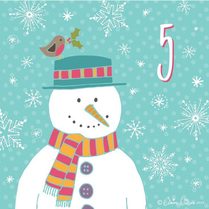 Advent Calendar 2014-05 claire wilson designs