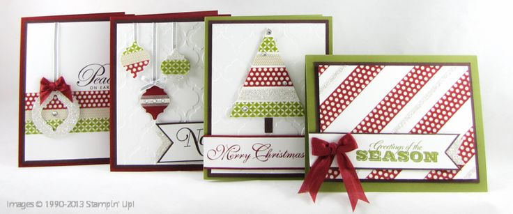 Wonderful Washi tape Christmas cards: Washi Tape Card, Homemade Card, Card Idea, Stampinup Com Washi, Stampinup Com Christmas, Tape Christmas, Card Stampin, Christmas Card, Christmas Trees