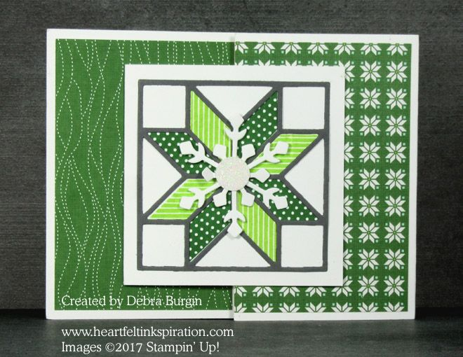 Stamp Review Crew: Christmas Quilt | Heartfelt Inkspiration