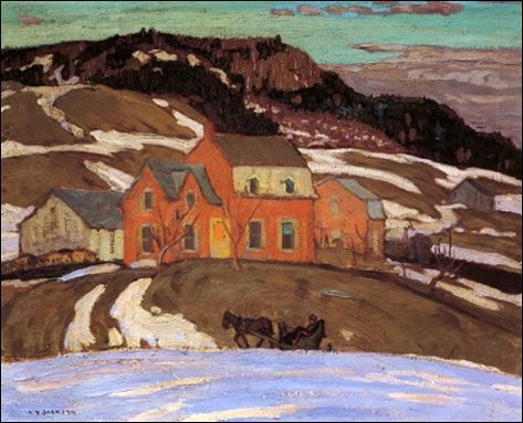 A.Y. Jackson-Group of Seven- Early Spring Quebec