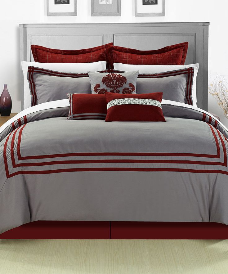 Best 25+ Red comforter ideas on Pinterest | Red comforter sets ... : red and grey quilt - Adamdwight.com