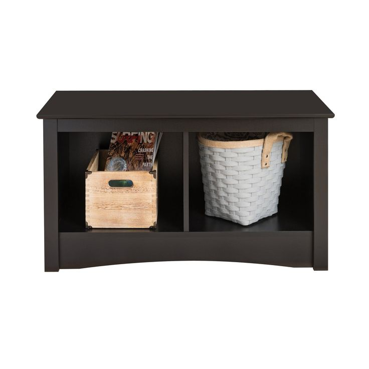 Prepac Sonoma Cubbie Bench - Black | from hayneedle.com