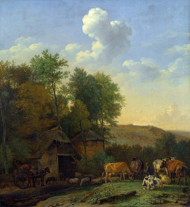 Paul Potter - Landscape with cows, sheep and horses