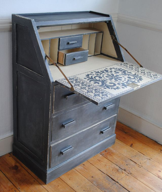A vintage writing bureau. A labour of love with a nice suprise inside.