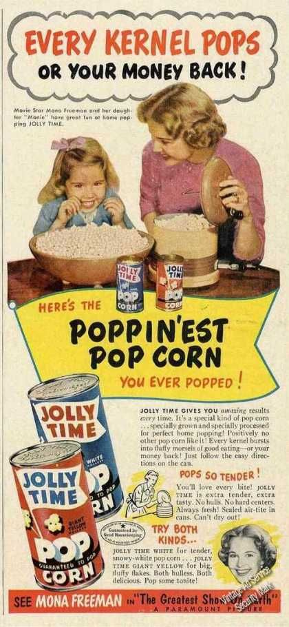 Mona Freeman Photo Jolly Time Popcorn (1953)