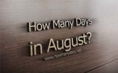 How Many Days in August?