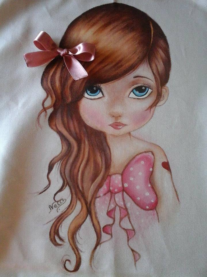 Pintura em tecido para almofadas de perninha