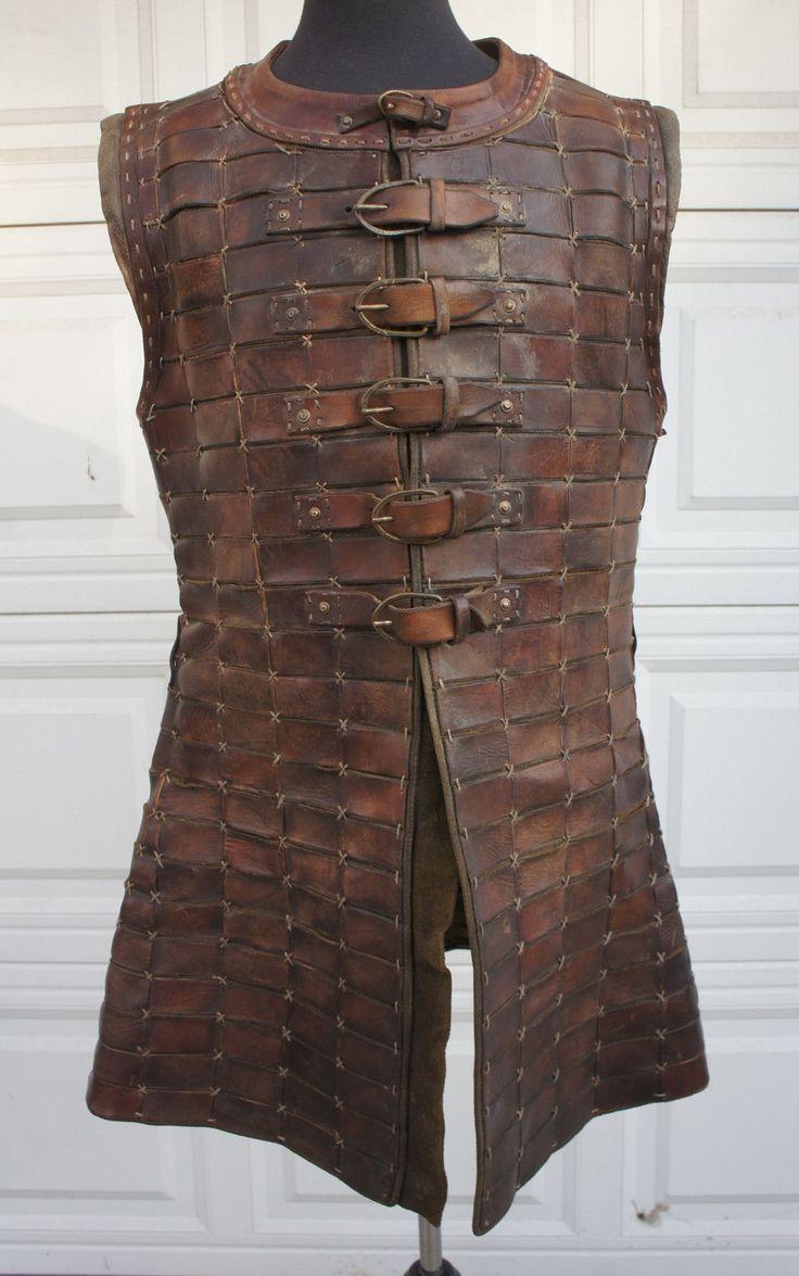 Medieval Coat Brigandine Leather Scale Armor LARP SCA DRACULA UNTOLD Movie Prop