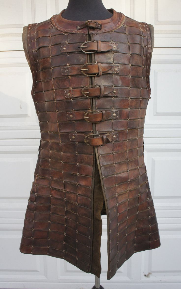 Casaco Medieval Armadura de Couro Brigandine Escala LARP SCA Drácula Incontáveis…