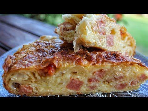 Εύκολη Συνταγή Express, για Τραγανή Ζαμπονοκασερόπιτα που Λιώνει στο Στόμα.