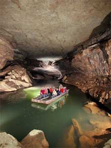 Worlds only underground boat tour in Mammoth caves Kentucky. worlds longest cave system of over 400 miles