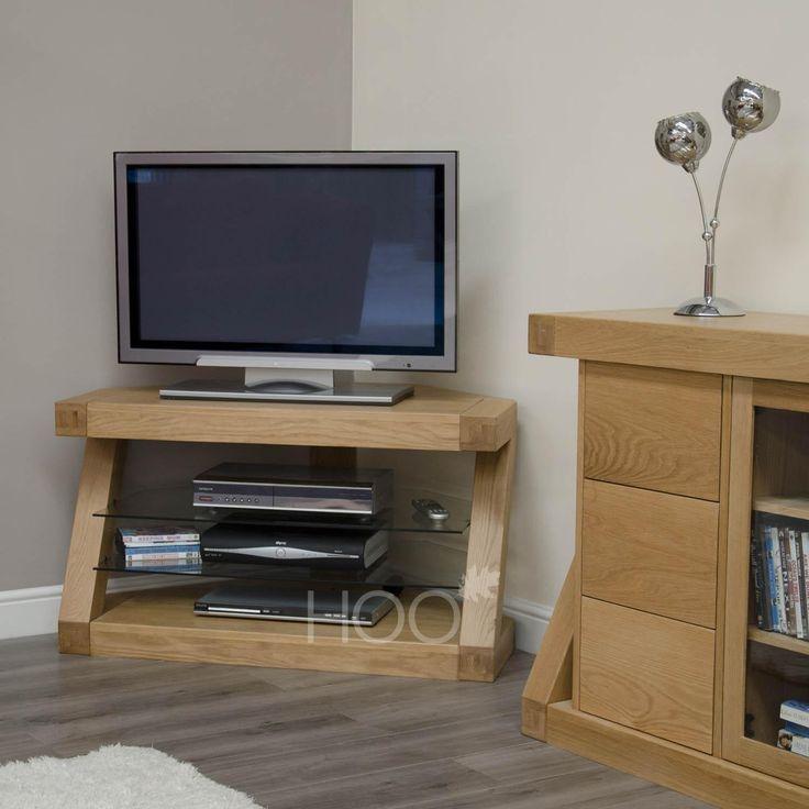 Z Oak Corner TV Cabinet