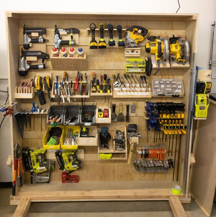 I Just Finished Making French Cleat Tool Storage Rack For My Work
