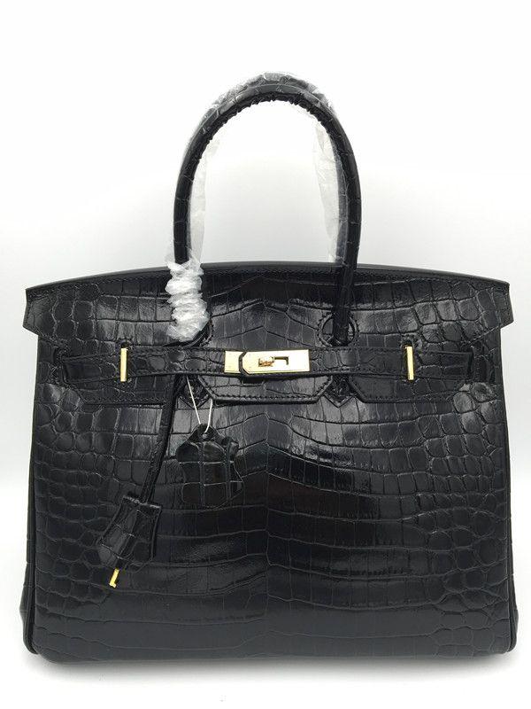 Купить Cooskin известный бренд высокого качества женская кожаная сумочка крокодиловой кожи большой женщины сумочку аппаратных золото пряжки кожаный мешоки другие товары категории Сумки с короткими ручкамив магазине Wins6 StoreнаAliExpress. leather bag и brand leather bag