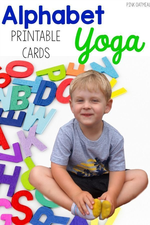 Yoga for each letter of the alphabet. So much fun for kids yoga! Great for kines...