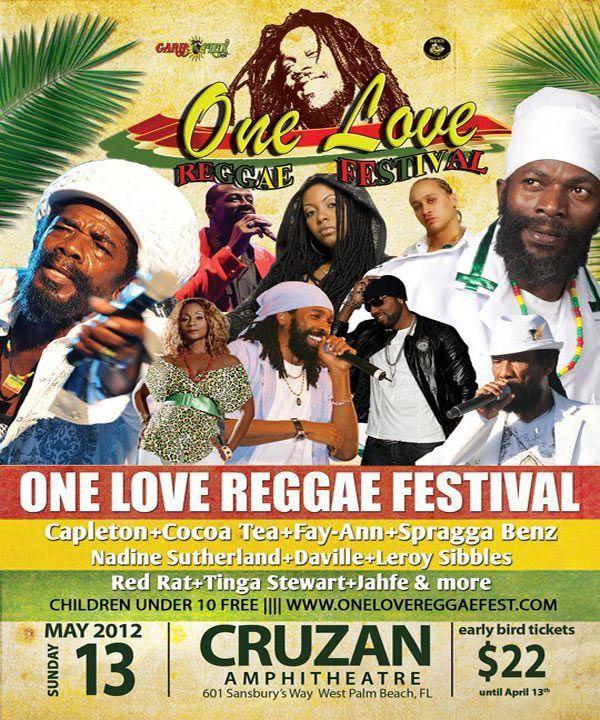 *The One Love Reggae Festival Feat. Capleton, Spragga Benz, Cocoa Tea