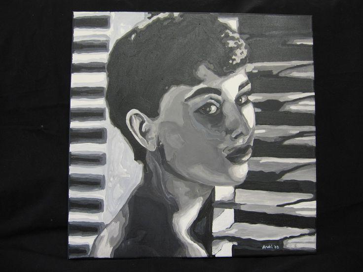 Audrey Hepburn - acrylic on canvas