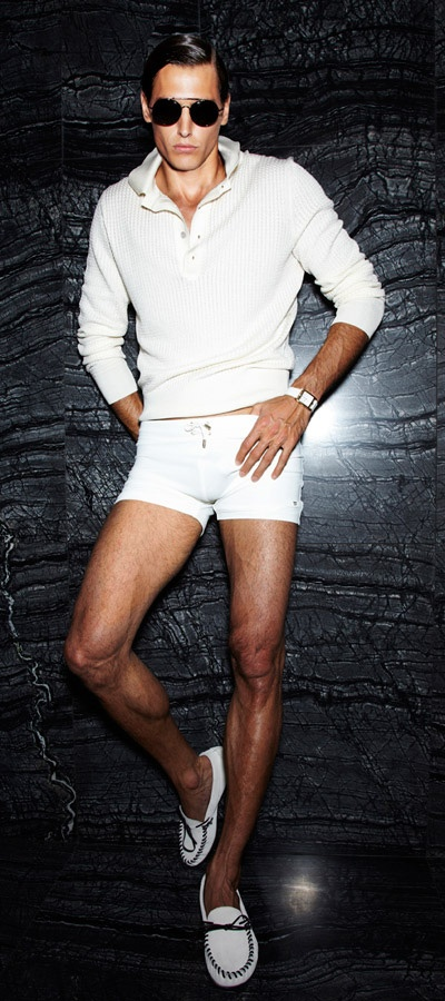 Mens Short White Shorts