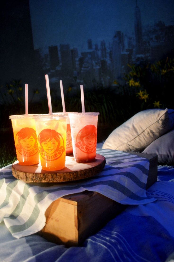 A little movie night under the stars with your best friends and some Orange Mango and Blueberry Pineapple FruiTea Chillers.