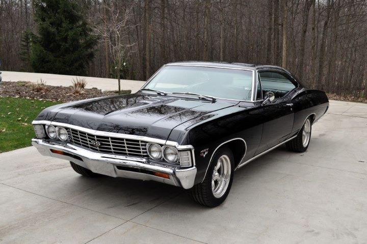 1967 black chevy impala introduced to me via supernatural amazing car sweet rides. Black Bedroom Furniture Sets. Home Design Ideas