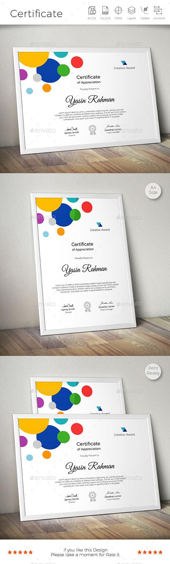 Certificate Design Idea Template - Certificates Template Vector EPS, AI Illustrator. Download here: https://graphicriver.net/item/certificate/17026955?s_rank=117&ref=yinkira