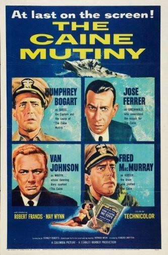 the caine mutiny poster Metal Sign Wall Art 8in x 12in