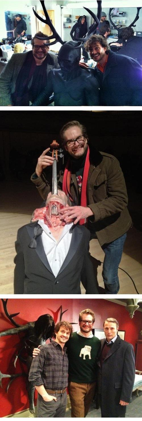 Behind The Scenes Pics From 'Hannibal'. GOD that second picture I can't look at it it's still horrifying